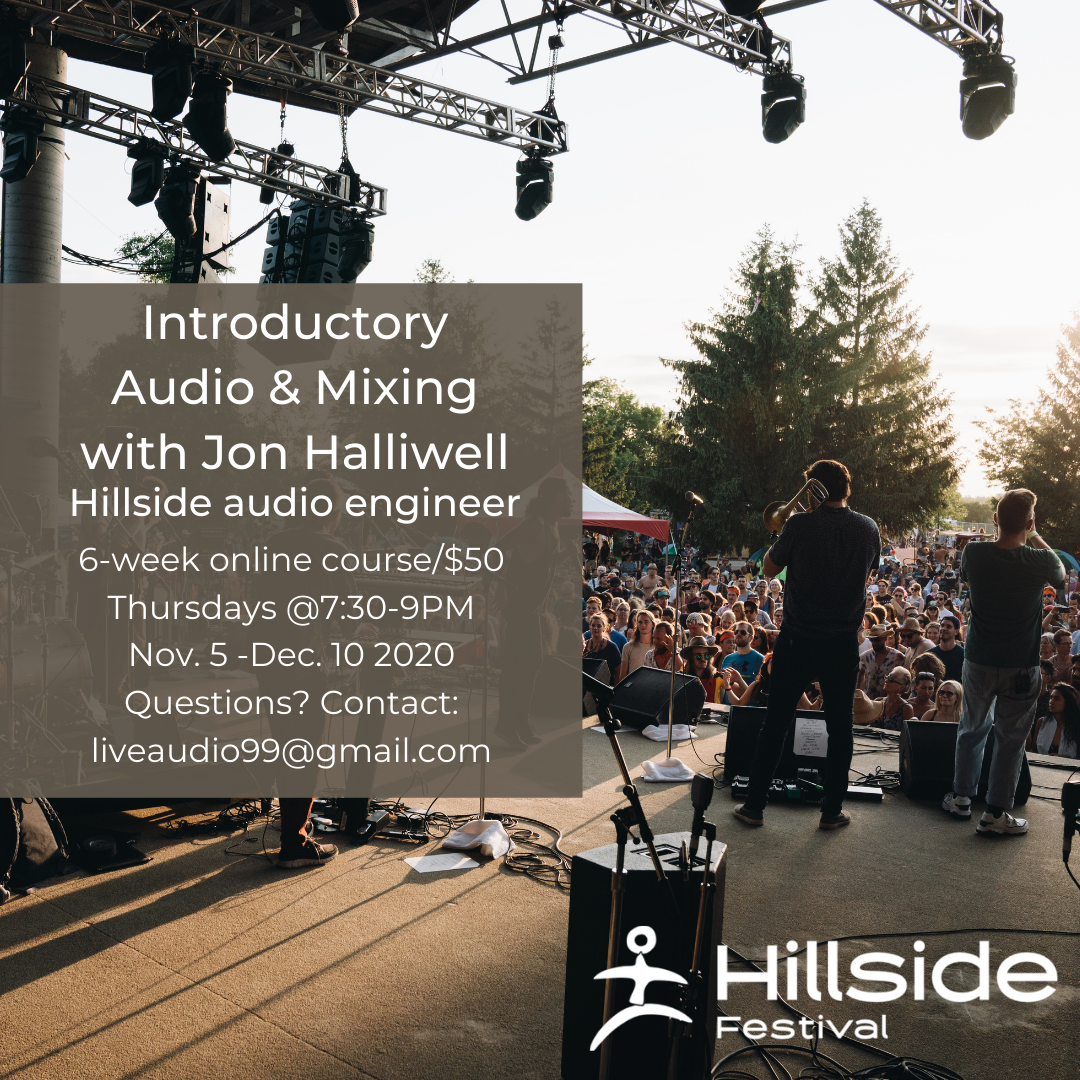 Introductory audio and mixing course