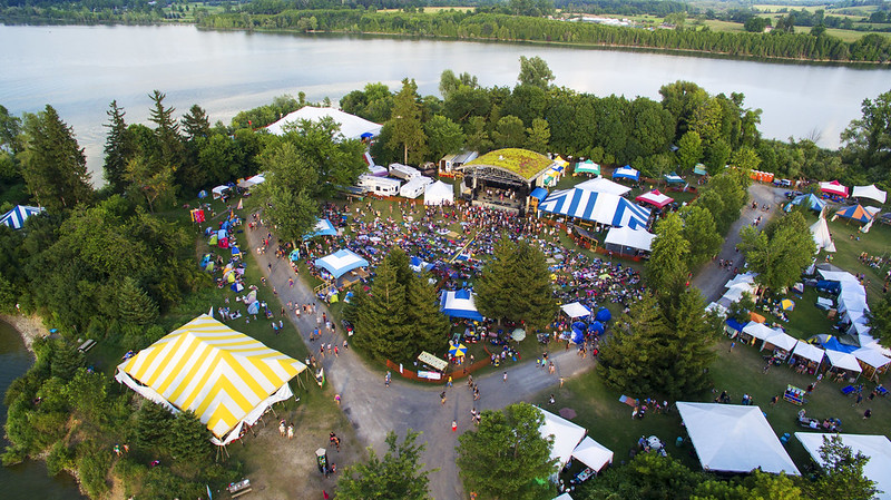 aerial view of main stage