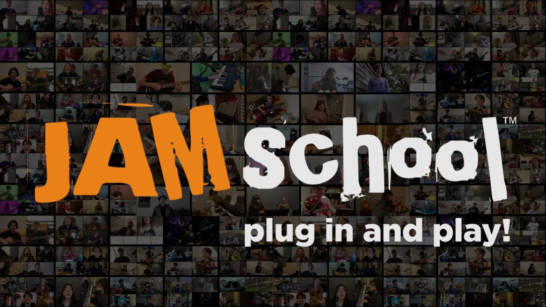 Jam school. Plug in and play