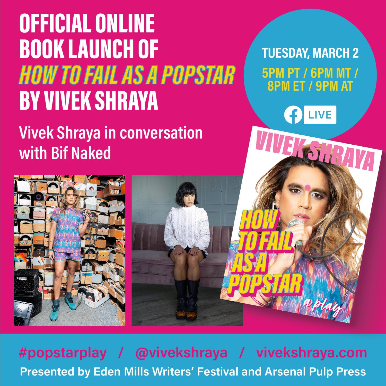 Vivek Shraya book launch