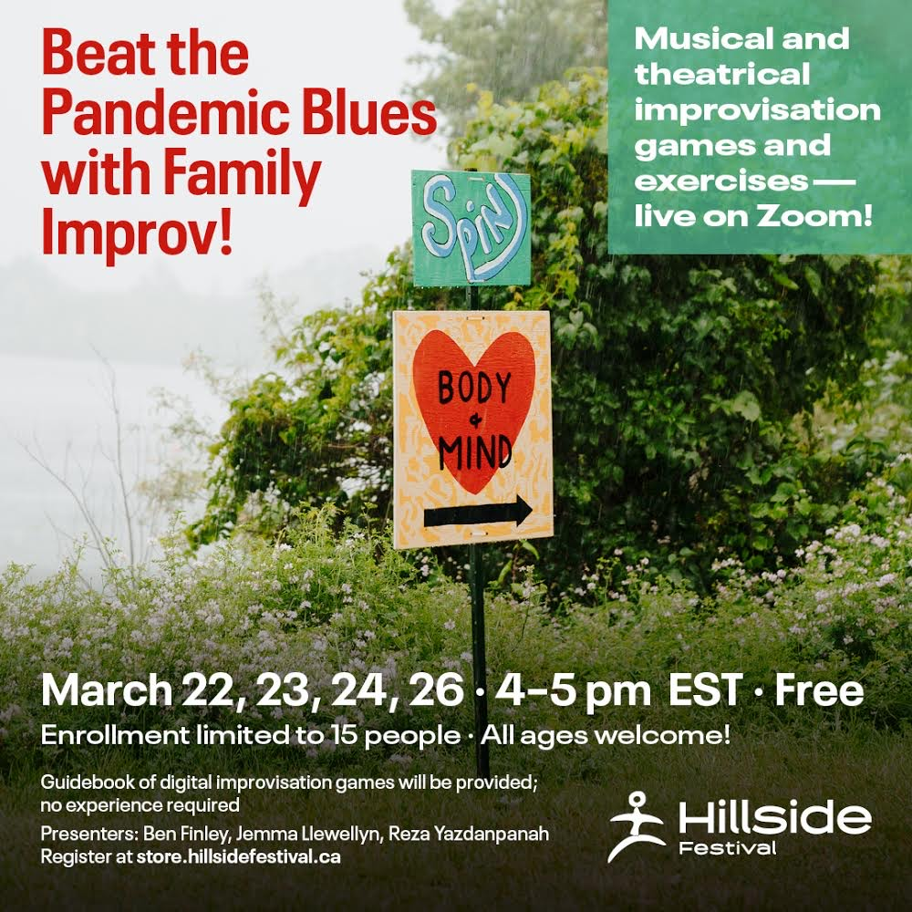 Beat the pandemic blues with free family improv workshops.