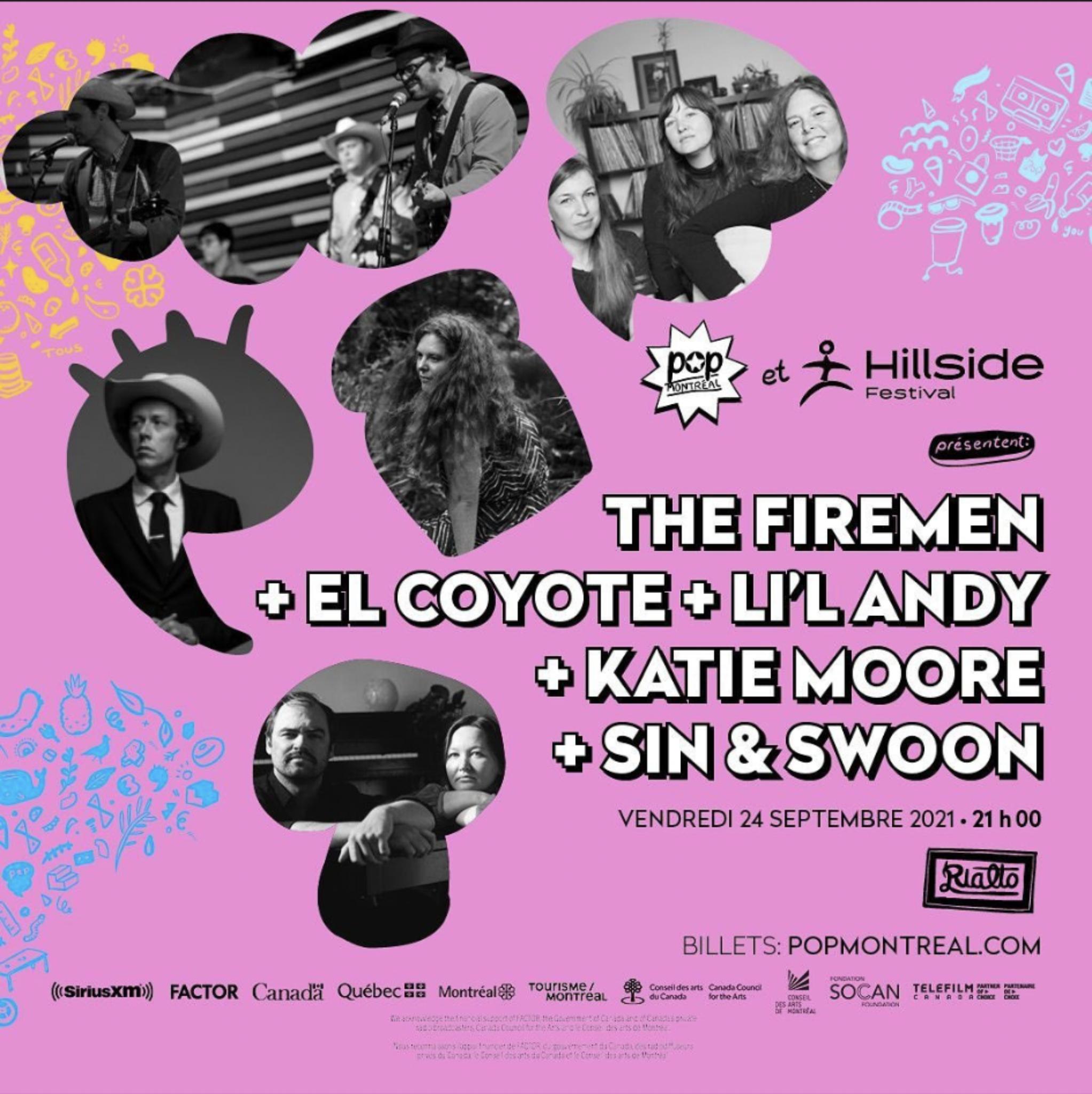 Poster for POP Montreal x Hillside Festival show